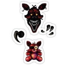 Five Nights At Freddy S Fnaf 4 Nightmare Foxy Plush Sticker By Kaiserin Foxy Plush Five Nights At Freddy S Fnaf