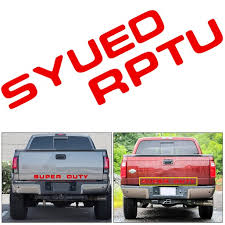 Xotic Tech Letter Decal Rear Tailgate Vinyl Sticker For Ford Super Duty 2008 2016 Glossy Red Walmart Com Walmart Com