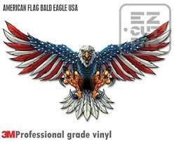 Reflective American Flag Bald Eagle Usa Made Decal Sticker 3m Truck Vehicle Car Ebay