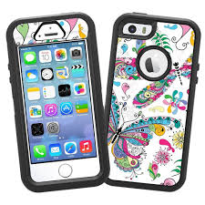 Amazon Com Butterflies And Dragonflies Protective Decal Skin For Otterbox Defender Iphone 5s Case Cell Phones Accessories Iphone 5s Cases Case Otterbox