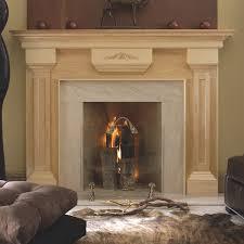 wood fireplace mantel surround in oak