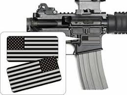 Pair American Flags Black Ops Stealthy Vinyl Decals Stickers Ar 15 Ar15 Gun Ebay