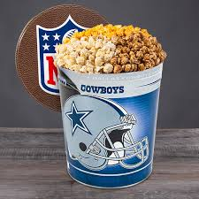 dallas cowboys popcorn tin by