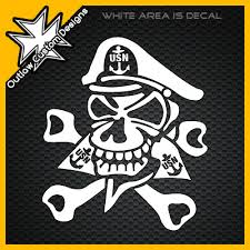 Us Navy Chief Skull Outlaw Custom Designs