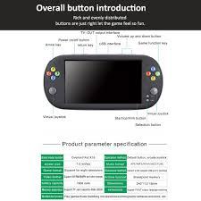 Máy chơi game cầm tay PSP X16 pin 1800MAH chất liệu nhựa ABS kích thước  24.0 * 11.2 * 1.5cm màu đen kèm cáp sạc