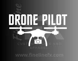 Drone Pilot Vinyl Decal Sticker