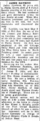 james hawkins death 8 jun 1942 the daily courier (connellsville, pa) -  Newspapers.com