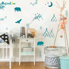 Wild Desert Wall Decals Forest Tree Animals Arrows Moon Wall Stickers For Kids Rooms Baby Nursery Vinyl Decal House Decor Sk006 Wall Stickers Aliexpress