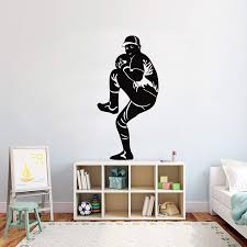 Amazon Com Baseball Wall Decal Baseball Stickers Decals Baseball Wall Stickers Kids Room Home 751re Home Kitchen