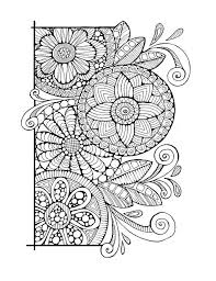 Adult Colouring Page Cirlces And Swirls Original Digital Download