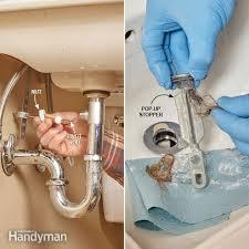 clogged sink bathroom