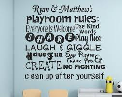 Playroom Rules Vinyl Subway Lettering Vinyl Wall Art Decal Child S Playroom Decor Imagination Make Music Play Fair Playroom 17 25x27 Home Living Home Decor