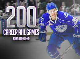 Byron Froese hits 200 AHL games - Raw Charge