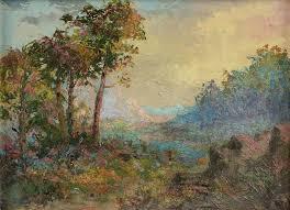 "CLINTON JOHNSON (American 1867-1952) A PAINTING, ""California"