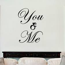 You And Me Sticker Vinyl Decal Decors Wall Quotes Love Etsy