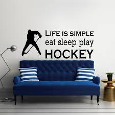 Yoyoyu Sports Eat Sleep Play Hockey Quotes Wall Decal Kids Room Living Room Art Vinyl Wall Art Sticker Decpr Mural Ym 183 Quote Wall Decal Wall Art Stickerswall Decals Aliexpress