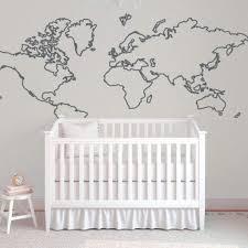 World Map Wall Decal Children S Wall Decal Db388 Designedbeginnings