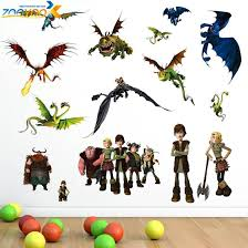 How To Train Your Dragon 2 Stickers Zooyoo1427 3d Movie Wall Decals Bo Bleubazaarz