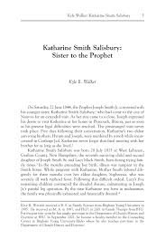 Katharine Smith Salisbury: Sister to the Prophet