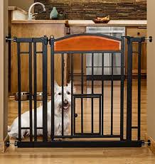 Design Studio Walkthru Gate With Small Pet Door Baby Dog Fence Indoor Safety New Pet Supplies Fences Exercise Pens
