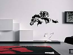 Amazon Com Horse Racing Art Wall Decal Sticker Arts Crafts Sewing