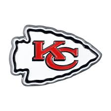 Fanmats Nfl Kansas City Chiefs 3d Molded Full Color Metal Emblem 22572 The Home Depot