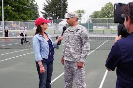 Sgt. 1st Class Matthew Loheide speaks with Great American Country ...