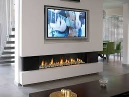 slimline gas fireplaces with tv above