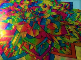 Flower Mandala Stained Glass Window Cling Suncatcher Photo Etsy