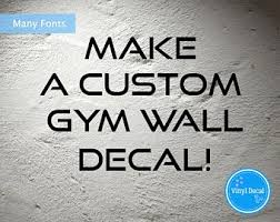 Gym Wall Decal Etsy