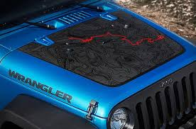 Jeep Wrangler Blackout Black Bear Edition Pass Map Adventure Trip Vinyl Hood Decal Tj Lj Jk