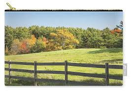 Wooden Fence In Autumn Maine Farm Pasture Carry All Pouch For Sale By Keith Webber Jr