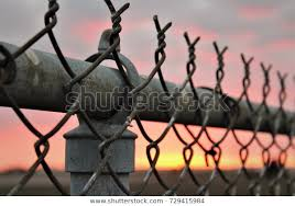 Close Chain Link Fence Galvanized Top Stock Photo Edit Now 729415984