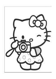Hello Kitty Kleurplaten Voor Kinderen Kleurplaat En Afdrukk