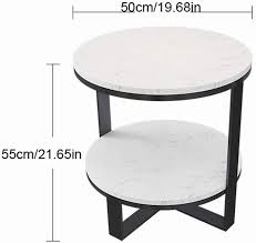 round coffee table marble metal legs
