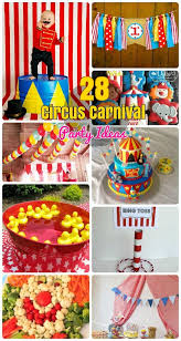 28 circus carnival themed birthday