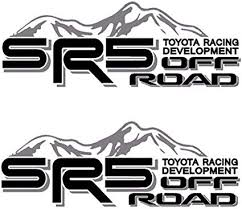 Amazon Com Sr5 Truck Mountain Off Road 4x4 Racing Tacoma Decal Vinyl Sticker Pair Of 2 Black Grey