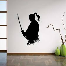 Samurai Katana Wall Decal Ninja Vinyl Sticker Japanese Home Decor Ideas Living Room Interior Wall Art Bedroom Wall Decor L237 Bedroom Wall Decor Wall Decorhome Decor Aliexpress