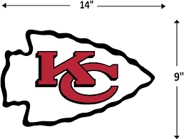 Amazon Com Fathead Nfl Kansas City Chiefs Kansas City Chiefs Logo Giant Officially Licensed Nfl Removable Wall Decal 14 14018 Wall Decor Stickers Toys Games