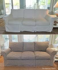 custom sofa slipcover in gingham the