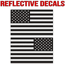 Amazon Com Classic Biker Gear Ghosted Subdued American Flag Car Decal Silver With Ghosted Black Print 1 8 X 3 Pair Hard Hat Lunch Box Vinyl Decal Car Sticker Automotive