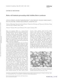 Hairy cell leukemia presenting with Guillain-Barre syndrome - [PDF Document]