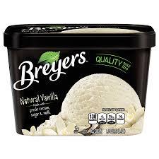 breyers all natural ice cream vanilla