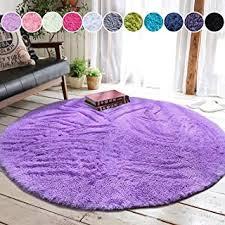 Nursery Rug 5x7 Purple Lavender Plush Shaggy Flokati Carpet Throw Rug Sheepskins Home Garden Animal Skin Area Rugs