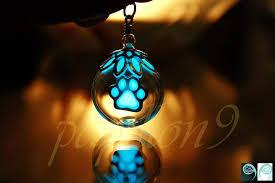paw pendant glow in the dark dog paw