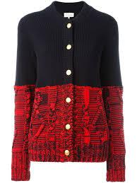 maison margiela colour block knitted