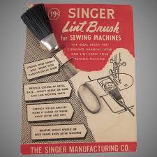 singer lint brush on original card not