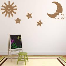 Sun Moon And Stars Wall Decal Style And Apply