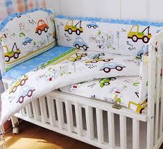 cotton 6pcs crib cot set baby bedding