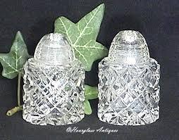 vintage cut glass salt pepper shakers